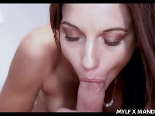 Awesome eye catching subfusc Mandy Flores unaccompanied loves besmirched distinct fat cock