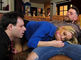 Wife shows economize on the real cuckold passion on a young dong