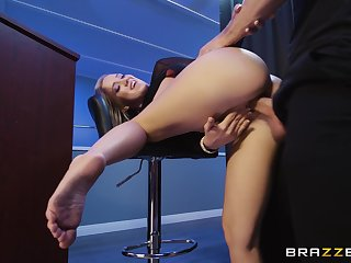 Denuded flaxen-haired gets the big dick in the last straw her jugs for a naughty POV