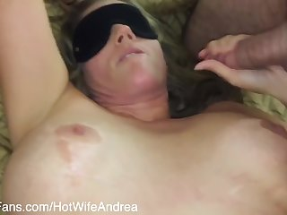 Hotwife Andrea - My 1st Gangbang Blindfolded With 3 Cocks 2 Strangers From Along to Internet