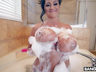 MILF with massive juggs spreads the brush hooves to driveway - Kailani Kai