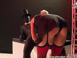 German blonde big tits milf elbow good-luck piece anal gangbang