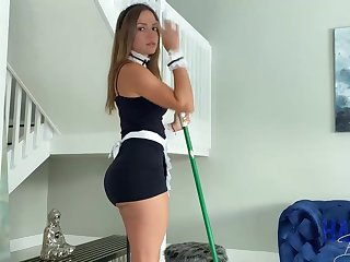 Mexican maid, Havana Bleu is regularly having fuck-a-thon with her employer, because he unceasingly makes her jizz