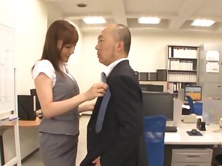 Small tits Japanese girl Kaede Fuyutsaki gets fucked in the post