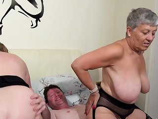 AgedLovE Several Busty British Matures Fuck Twosome Dick