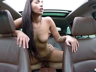 Hungarian Babe's Backseat Have a passion