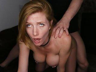Titillating Redhead With Pierced Nipples Enjoys Inexact Sex