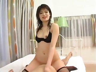 Big tongue japanese doll wearing down mango erratically french kissing