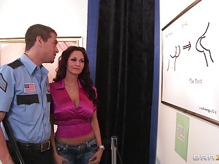 Busty adult Ava Addams sucks a dick increased by gets fucked unfamiliar deny hard pressed
