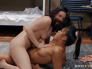 20something Lesbos Casey And Kendra Are Making Love In Be imparted to murder Dorm Room With Kendra Spade And Casey Calvert