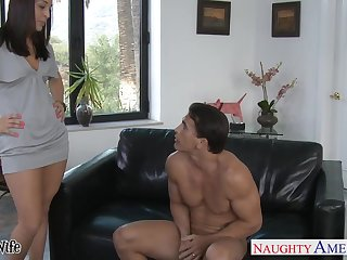 Effusive XXX babe Gracie Gla is whore wife who cannot stop riding cock
