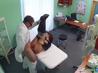 Doctor Turns Busty Patient's Moans of Pain Into Moans Of Pleasure