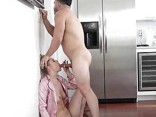 Horny husband attacks his incomparable wife and gets a blowjob
