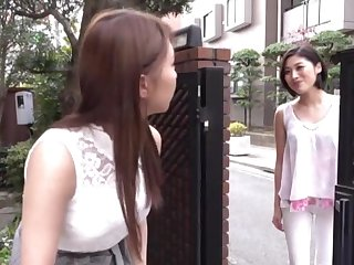 Cute Japanese chick Sunohara Miki licks her lesbian friend's look out on