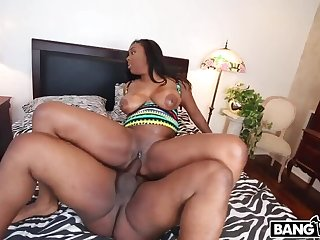 Thick Ebony Pussy Gets Railed